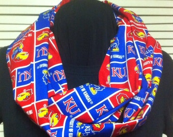 University of Kansas Jayhawks Cotton Infinity Scarf