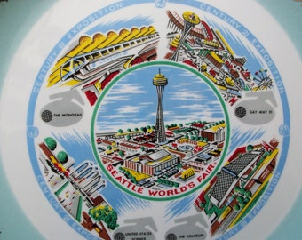 1962 Seattle World's Fair Plate Space Needle