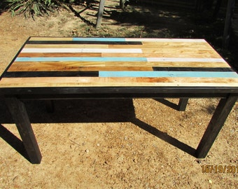 Reclaimed Wood Table, Rustic Kitchen Table, Modern Rustic Kitchen Table, Wood Art Table, Reclaimed Wood Table, Solid wood Table