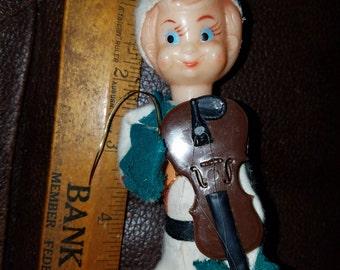 Vintage Elf Playing Instrument