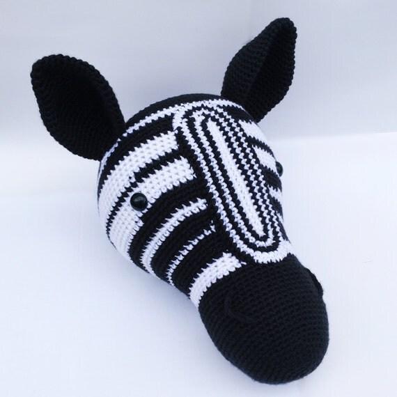 Faux taxidermy zebra head zebra wall decor zebra head wall