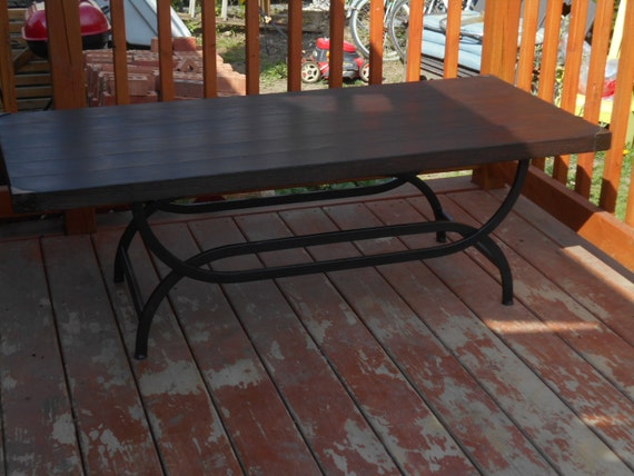 Reclaimed Wood And Iron Coffee Table Local Pick Up Only