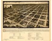 Amarillo, Texas - 1912 -  Aeroplane View of the City Reprint