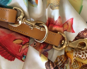 Heavy Bridle London Tan Adjustable Cross Body Leash