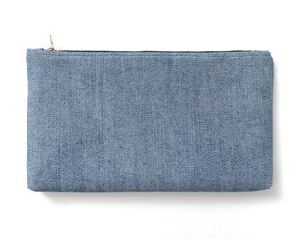 Denim Clutch Purse Zipper Wallet Pouch