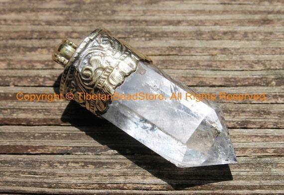 Basket Weaving Supplies Raleigh Nc : Himalayan tibetan luxe crystal quartz point pendant with