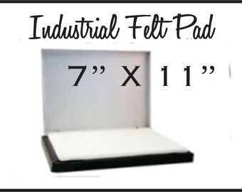 7 X 11 Larger ink pad for stamping with custom rubber stamps. The largest ink pad for large hand stamps. Sold dry. Ink is sold separately.