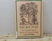 The Bat Poet, 1965, Randall Jarrell, pictures by Maurice Sendak, vintage kids book
