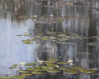 Pond With Water Lilies/Impressionism/JPG/Pond/Water Lilies/Landscape/