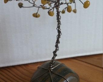 Wire Tree Sculpture (Green)