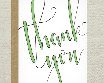 Thank You Calligraphy Greeting Card