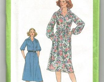8679 Simplicity Sewing Pattern Vintage 1970s Front Button Dress UNCUT Plus Size 44 46