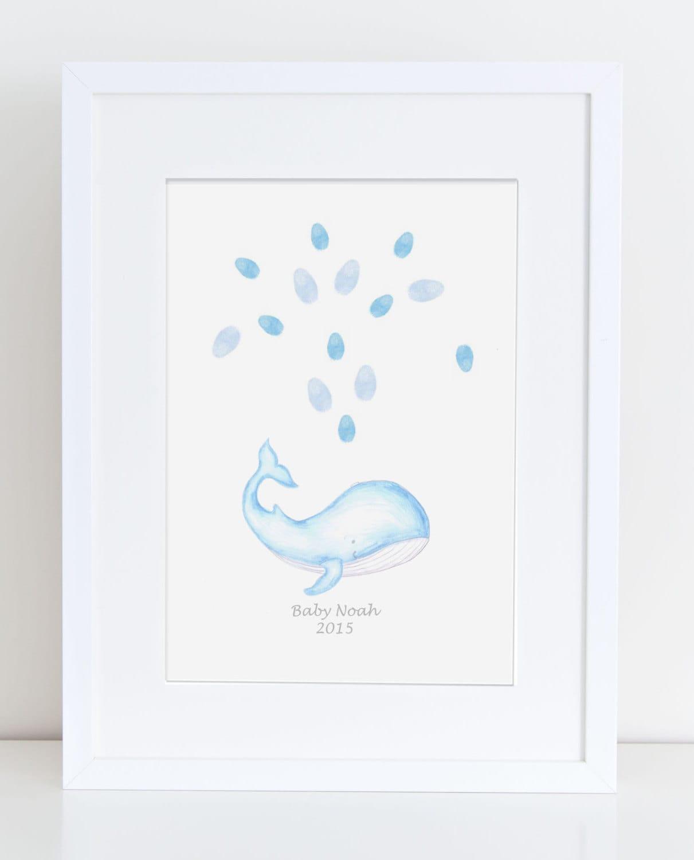 baby shower keepsake art whale fountain of