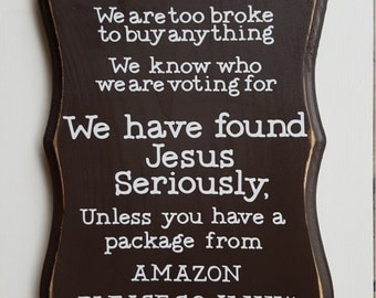 No Soliciting Amazon Sign