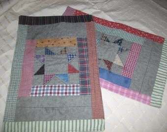 Vintage Machine Quilted Placemats/Runners