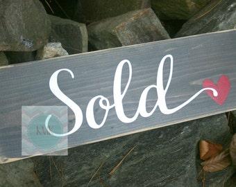 Realtor Sold Sign-Realtor sign-Broker sign-Real Estate sign-closing sign-sold sign-new home-buyer-seller sign-photo prop sign; wood