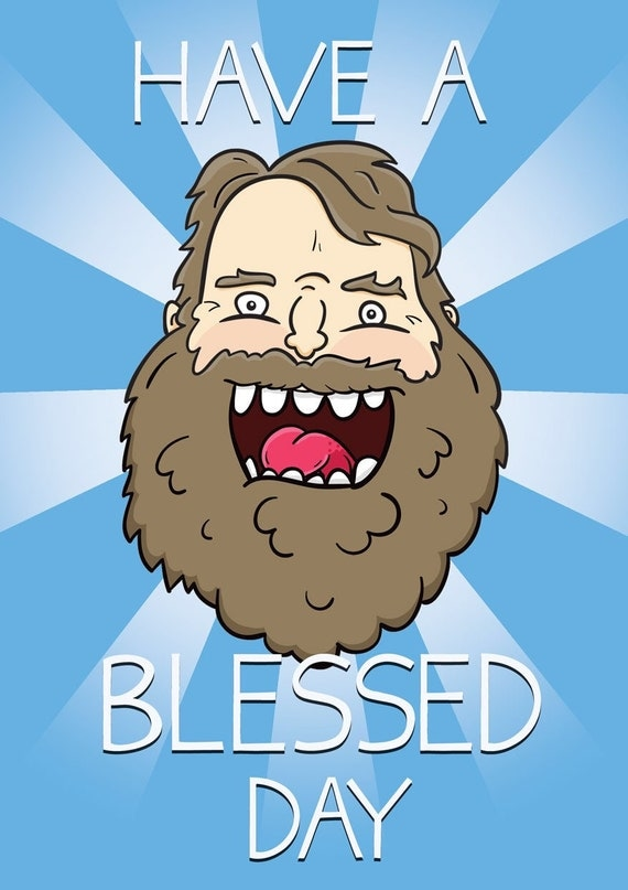 Brian Blessed Greetings Card
