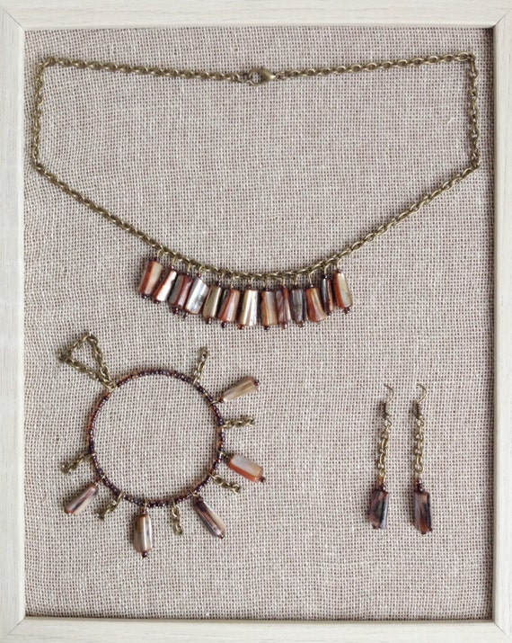 Ethical Shell & Chain Necklace, Bracelet and Earring set