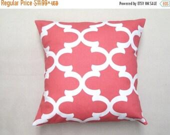 SALE Pillow Cover, Pillow, Coral Pillow, Decorative Pillow, Beach Decor, Decorative Throw Pillow, Cushion, Coastal Decor, Wedding Gift