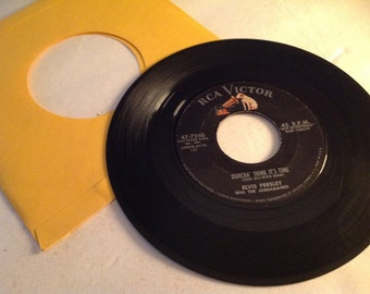 Rare 1958 Elvis Presley Rca Victor 45 record (Doncha think its time )