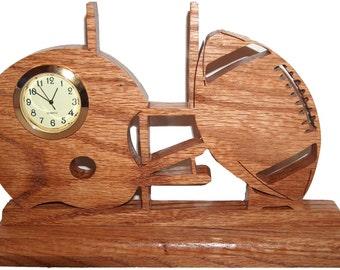 Football Desk Clock Sports Football Decor Helmet Goal Post Decorative Clock
