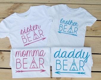 Bear Shirt Family Bear Shirts Matching Bear Shirts Mama Bear Shirts Family Bear Outfit Papa Bear Outfit Momma Bear Outfit