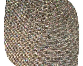 Snake Skin Silver Shimmer Fabric
