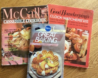 Assorted Cook Books - Pillsbury Great Baking, McCalls Casserole, Good Housekeeping Clock-Watchers