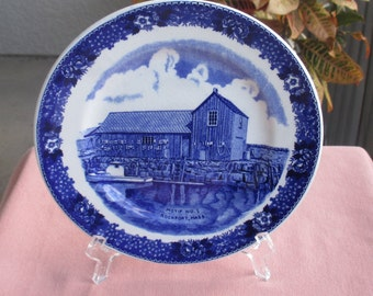 Vintage Old English Staffordshire By Adams Rockport Mass Souvenir Plate