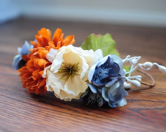 Fall Foliage Flower Crown