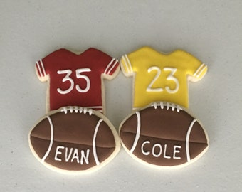Football/Football Jersey Sugar Cookies