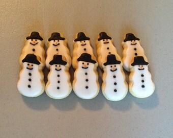 2 dozen Mini Snowman Sugar Cookies