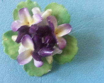 Cara China Staffordshire Flower Brooch Made in England