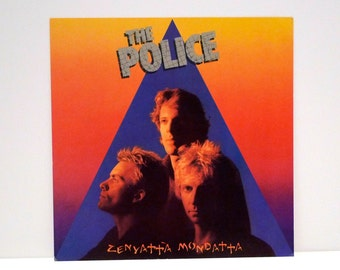 The Police Poster Vintage Zenyatta Mondatta Record Store Flat 1980 New Wave Band Indie Rock A&M Records Sting Stuart Copeland Andy Summers