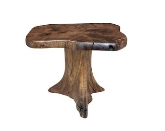 red oak tree stump end table. Black Bedroom Furniture Sets. Home Design Ideas