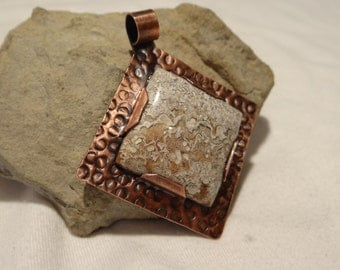 Custom Designed Crazy Lace Agate Pendant