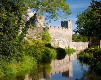 Cahir Castle Ireland, reflections, wall art, photography