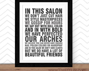 Hair Salon Wall Decor salon wall art | etsy