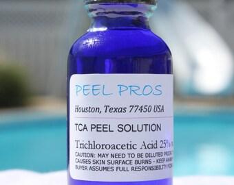PeelPros 25% TCA Chemical Skin Peel Face Exfoliant 1 fl oz (30ml) Professional Facial Resurfacing