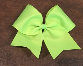 Practice Cheer Bow - Neon Lime Green