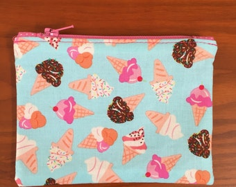 Ice Cream Cone Coin Purse, Coin Pouch, Change Purse, Change Pouch