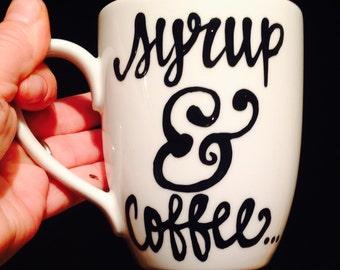 Elf coffee cup- syrup and coffee- Im a Cotton Headed Ninny Muggins Coffee Mug- Elf the movie- Will Ferrell - Cottonheade