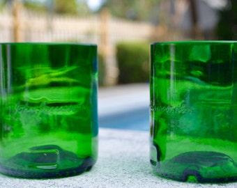 Set of Two (2) Upcycled Jameson Rocks Glasses (Med)