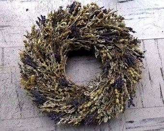 Kitchen Herb Wreath - Dried Mixed Herb Wreath - Dried Floral Wreath - Home Decoration