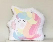 Unicorn cushion. Kids bedroom. Nursery cushion. Home decor. Gifts for kids