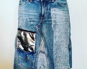 Metallic Lilli Series A-Line Skirt