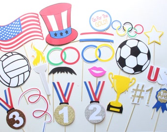 21 pc US Olympic Photo Booth Props/Olympics/Sports Photobooth Props