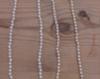 Two vintage pearl necklaces