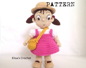 CROCHET PATTERN - MEI amigurumi doll / Studio Ghibli - pdf only