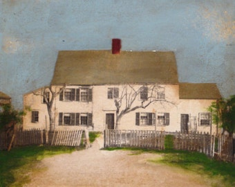 "Title: Mr. Elliotts House 5""x5"" Oil/inkjet on birch wood"